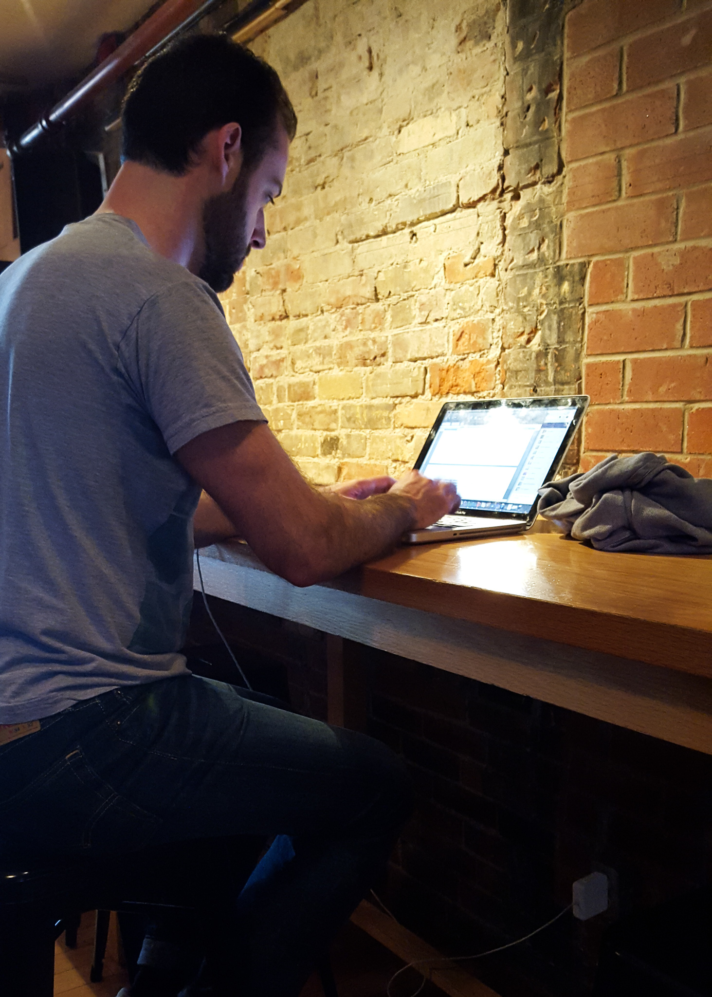 person on a laptop