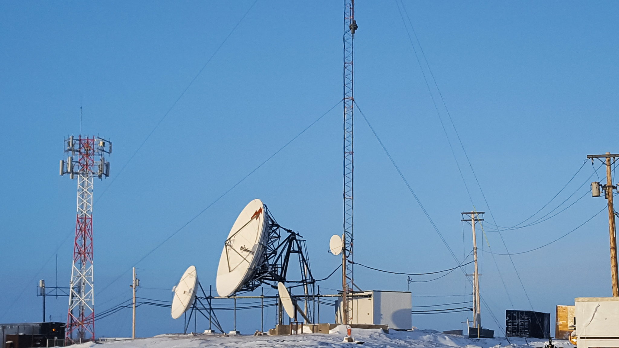satelite dish and communications infrastructure