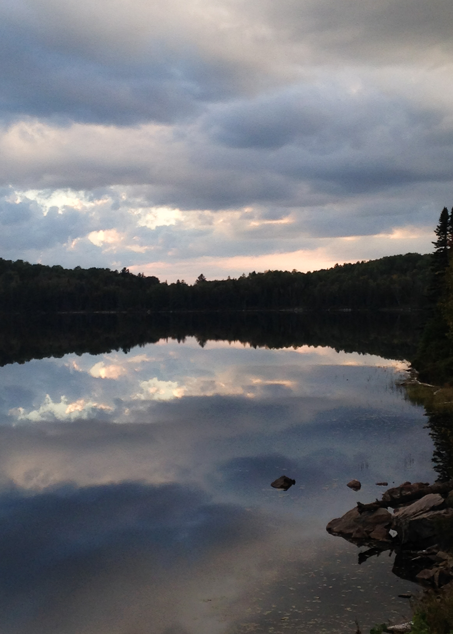 lake with sky's reflection
